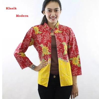 batik klasik model bolero tampilan modern