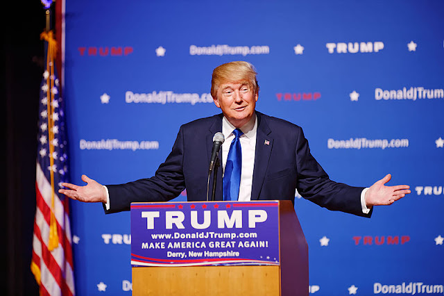 Image Attribute: Mr Donald Trump New Hampshire Town Hall on August 19th 2015 at Pinkerton Academy in Derry, NH by Michael Vadon  / Source: Wikimedia Commons