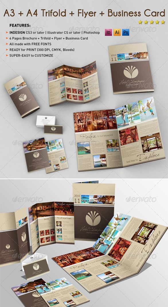 Free Premium Brochure Templates Photoshop PSD InDesign AI - Photoshop tri fold brochure template free
