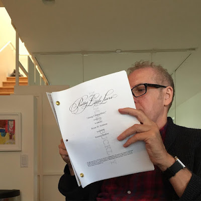 "PLL director Norman Buckley with script for episode 7x05 ""Along Comes Mary"""