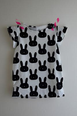 T-shirt, zwart-wit, konijn, candydress, la maison victor