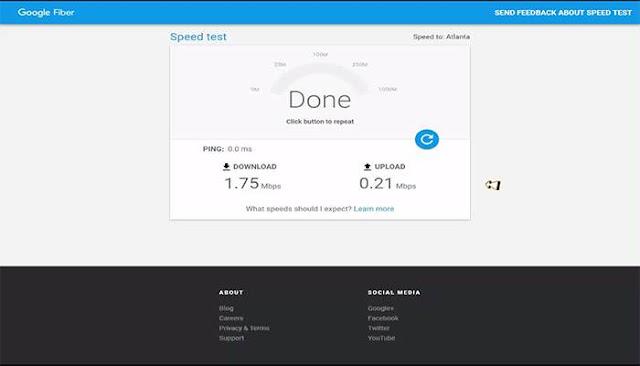 كيف تقيس سرعة الإنترنت بمحرك البحث جوجل 2