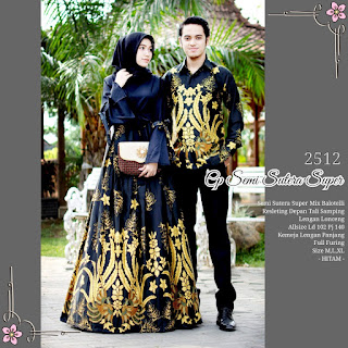 BAJU BATIK COUPLE MODEL GAMIS SEMI SUTERA SUPER MIX BALOTELLY T2512