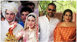 Sanjay Kapur and Karishma Kapoor; Sanjay kapoor and Priya Sachdev