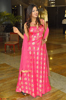 Sindhu Shivarama in Pink Ethnic Anarkali Dress 06.JPG