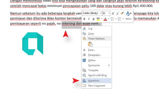 Cara Membuat Link Dalam Satu File Word