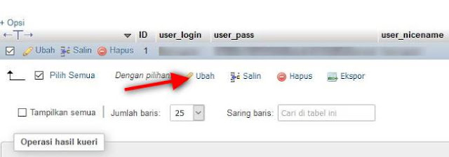 Cara Mengganti Password Blog WordPress di phpMyAdmin