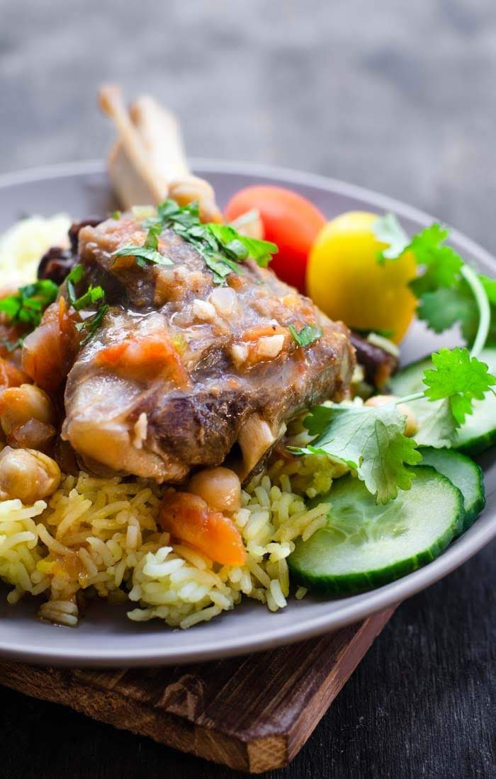 Delicious, tender braised lamb shanks image