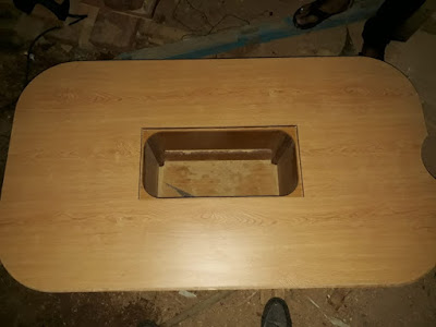 Refurbished Jeanneau saloon table top
