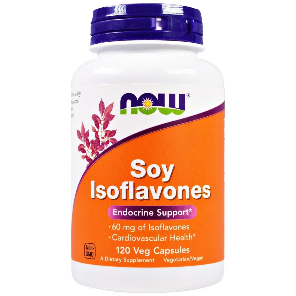 Now Foods, Изофлавоны сои, 120 растительных капсул