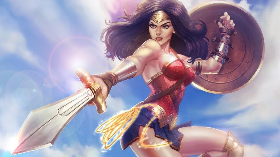 Wonder Woman, Sword, Shield, DC, Superhero, 4K, #6.1196
