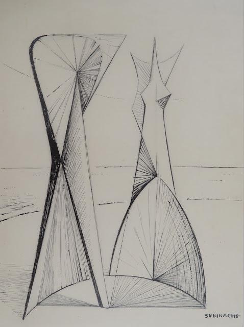 Dibujo original de Subirachs en venta en Gaudifond Arte