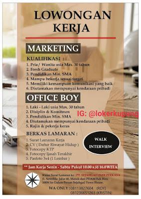 Lowongan Kerja PT. Sejahgad Indi Perkasa Sebagai Marketing dan Office Boy