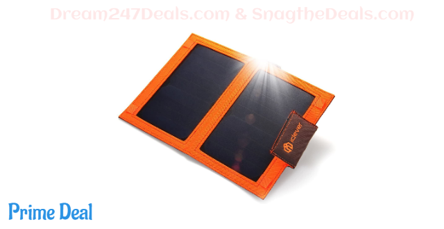 51% OFF 12W Solar Panel USB Charger 8000mah Power Bank