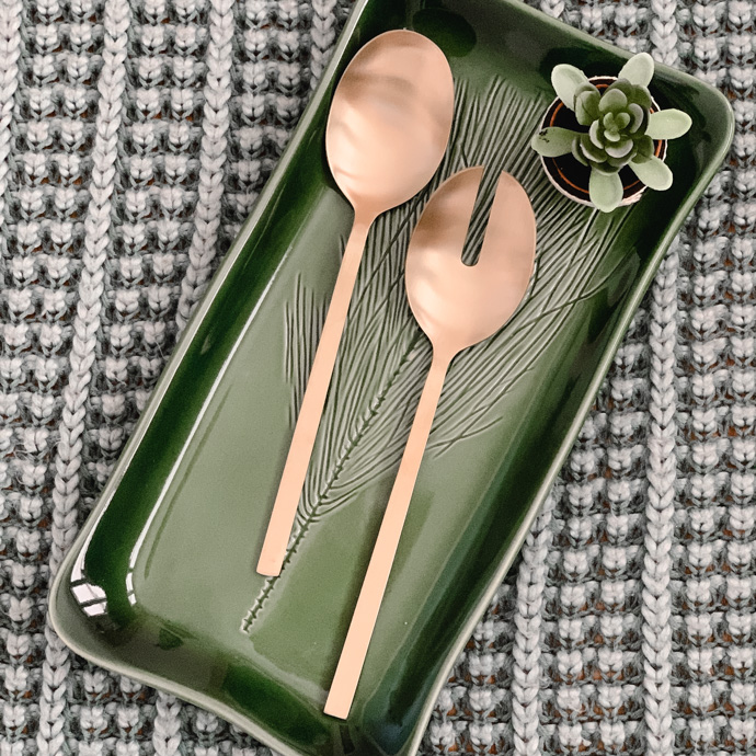 CAUSEBOX gold serving spoons