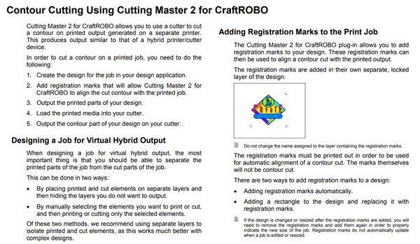 contour cutting craftrobo