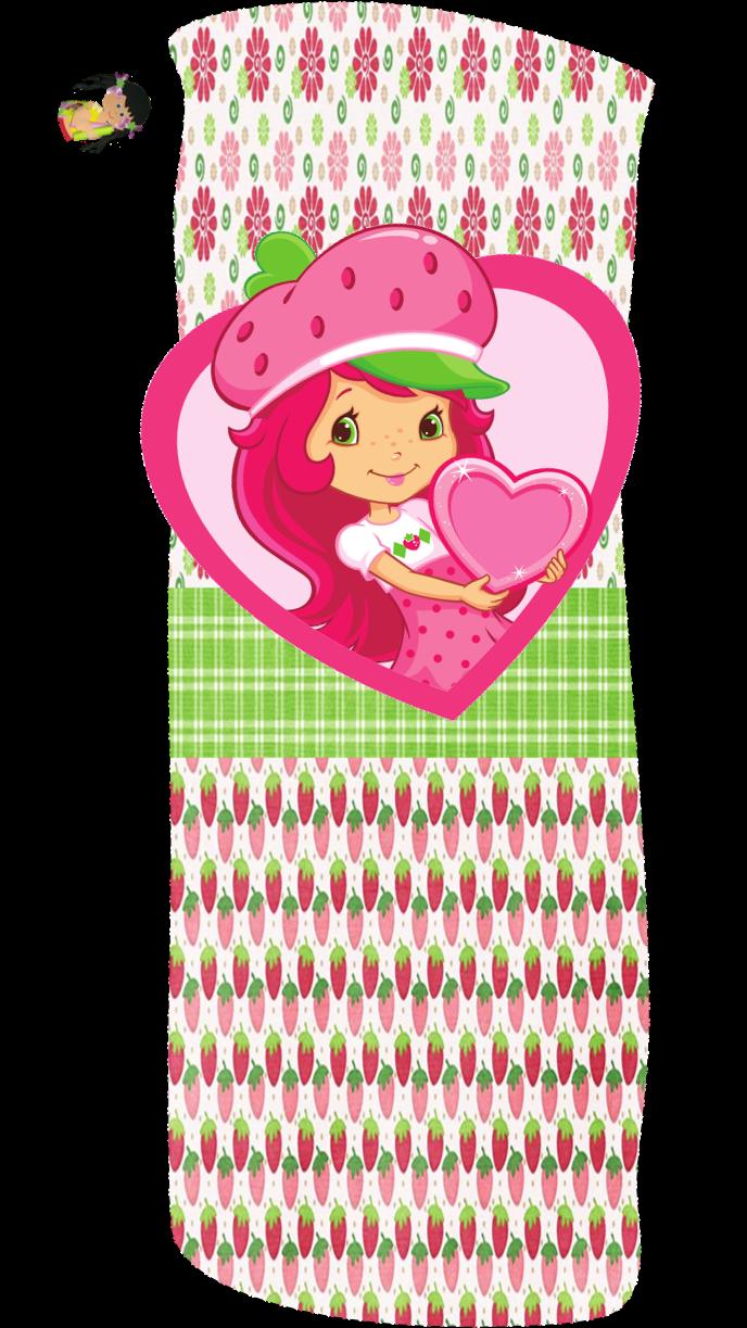alfabeto de strawberry shortcake con fresas y flores oh