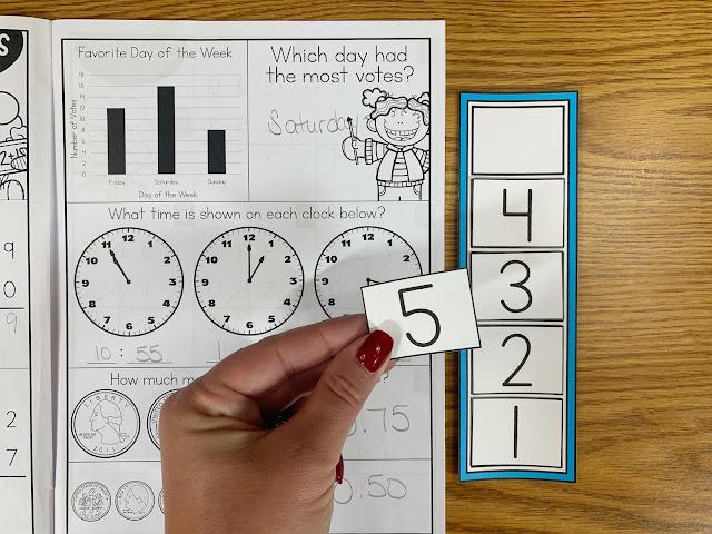Math Intervention Workbook with Countdown/Token Board