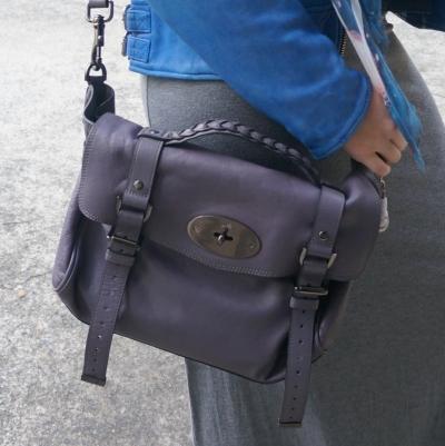 Mulberry regular Alexa bag lilac with grey jersey maxi skirt | AwayFromTheBlue
