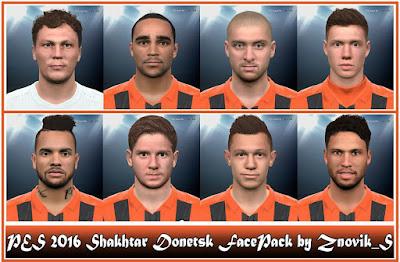PES 2016 Shakhtar Donetsk FacePack