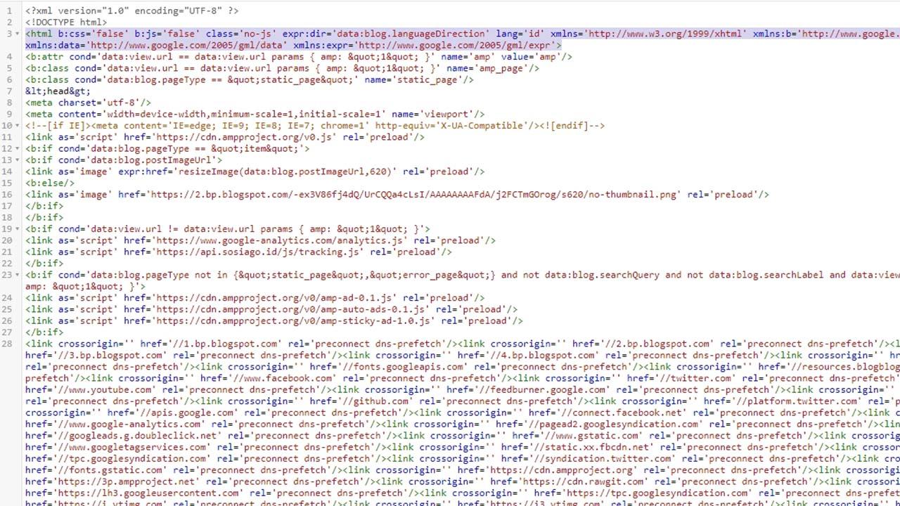 Menghilangkan Atribut XMLNS Pada Tag HTML Blogger Secara Otomatis