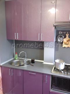 Маленькая фиолетовая кухня