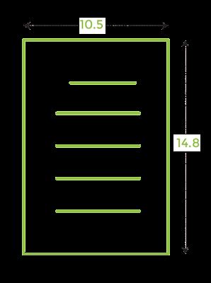 Ukuran kertas A6 dalam cm