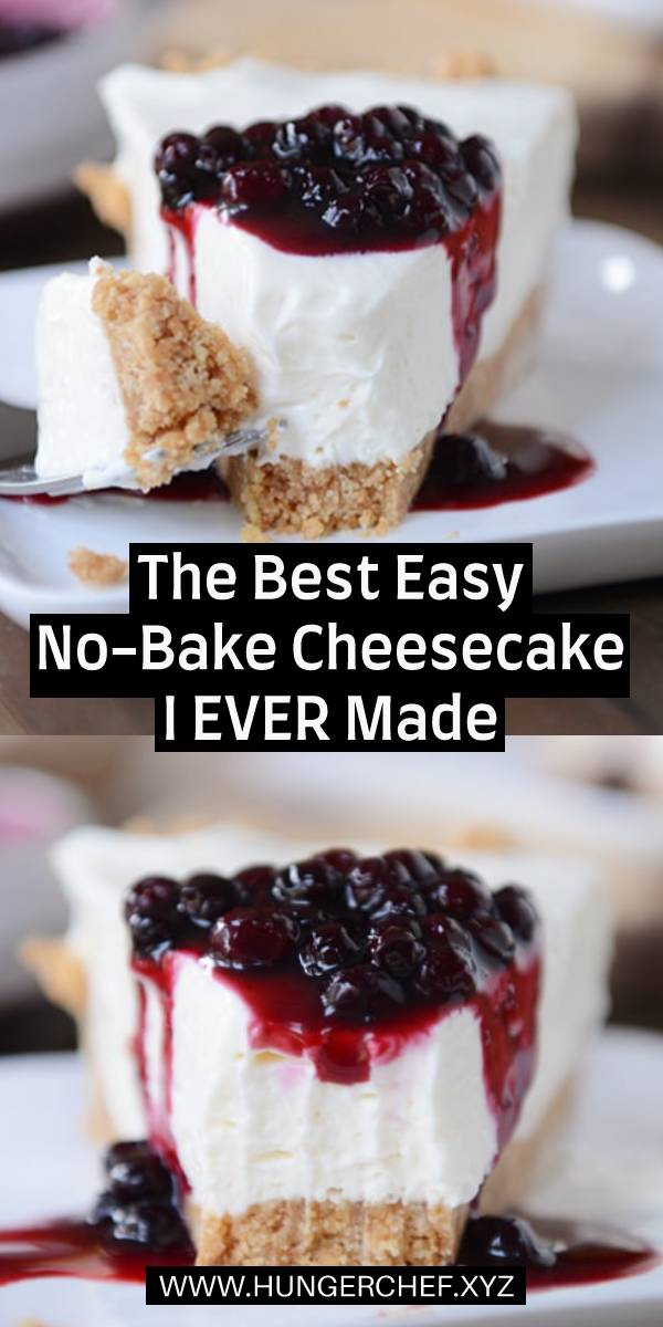 The Best Easy No-Bake Cheesecake I EVER Made! #cheesecake #nobake #bestcheesecake #cake #cheesecakerecipe