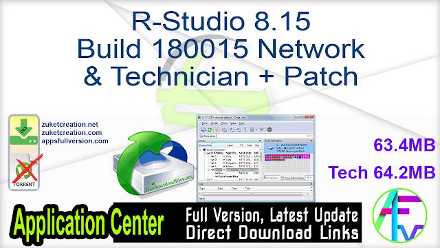 R-Studio 8.15 Build 180015 Network & Technician + Patch