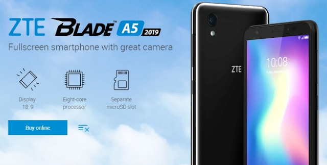 جوال ZTE Blade A5 2019 الجديد