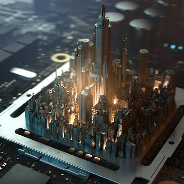PCB City Wallpaper Engine