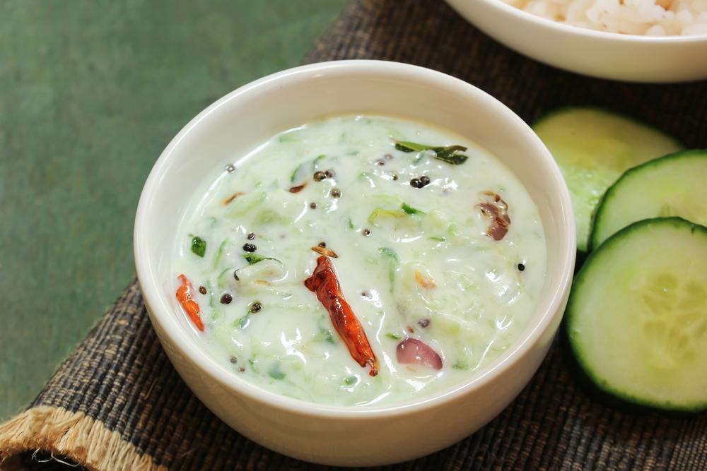 Cucumber Yogurt Dip/Raita Recipe - ककड़ी योगस्ट रायता बनाने की विधि