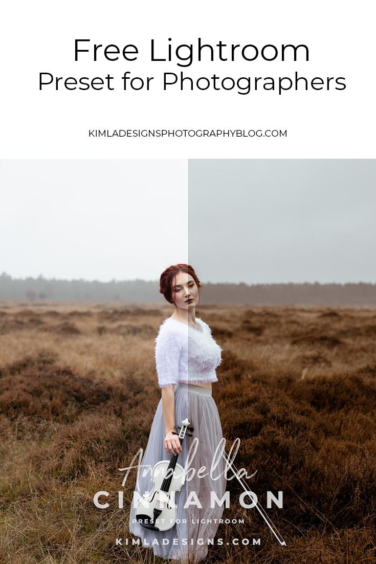 Free Cinnamon Lightroom Preset - Kimla Designs Photography