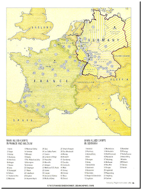 Allied German POW camps map