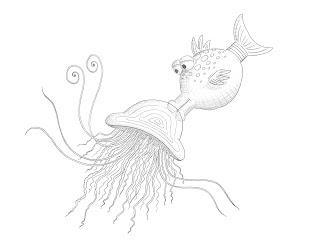 free the pout pout fish coloring pages - Pout Pout Fish Coloring Page
