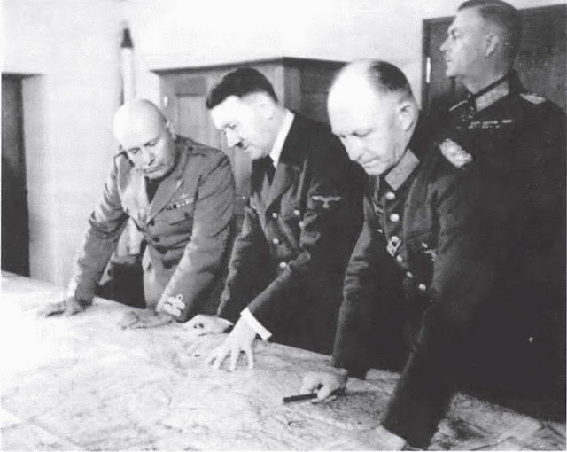 Hitler, Mussolini, Jodl, and Keitel, 25 August 1941 worldwartwo.filminspector.com