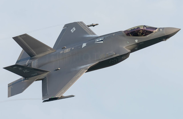 The US prepares fighter jets, 52 F-35A aircraft fly from Hill Airforce Base