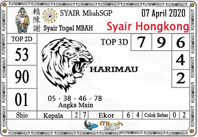 Prediksi Togel Hongkong Selasa 07 April 2020 - Syair Mbah HK