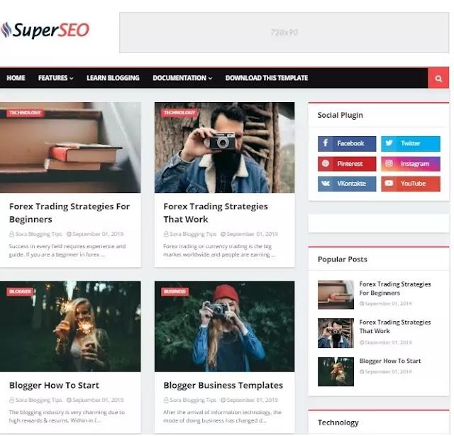Free Best Seo Friendly Responsive Blogger Templates
