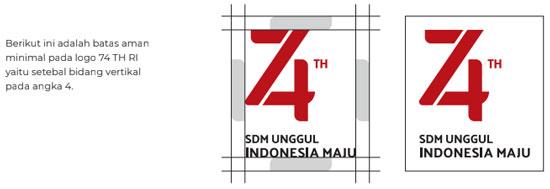 pedoman visual tema dan logo hut ri ke-74 tahun 2019