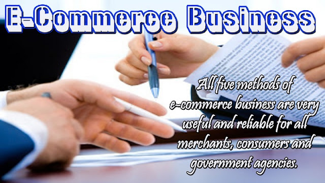 """What is an """"e-commerce business""""?"""