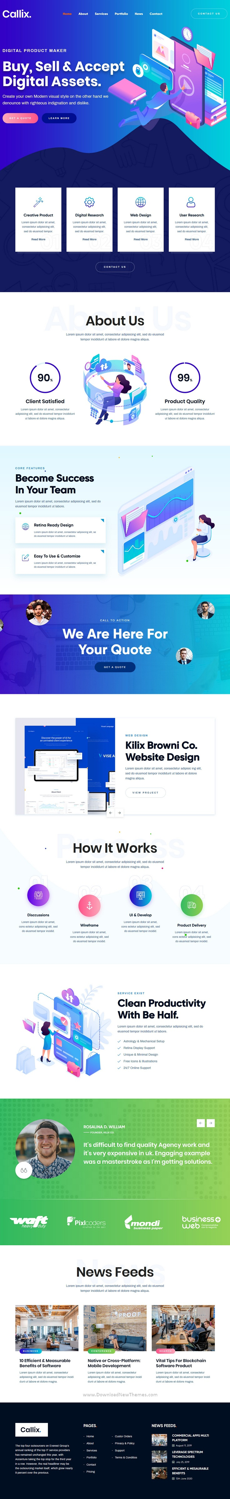 Agency HTML Template