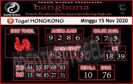 Prediksi Bangbona HK Minggu 15 November 2020