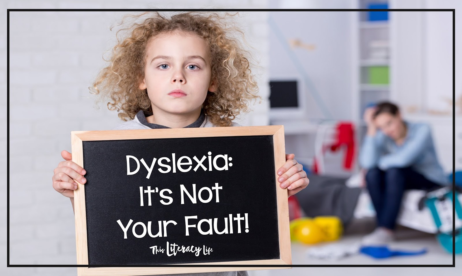 When you've done everything to help your own child read, and it's not working, don't blame yourself. Dyslexia is NOT your fault!