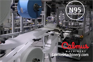 Fabrics Feeding - Fully-automatic N95/FFP2 Cup Respirator Mask Production Line