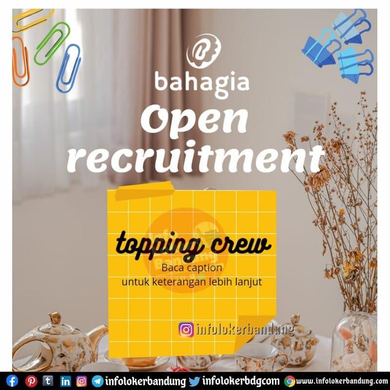 Lowongan Kerja Topping Crew Donat Bahagia Bandung April 2021