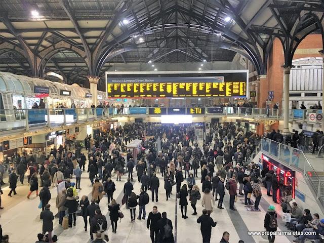 London Liverpool Street Station, la entrada a Londres