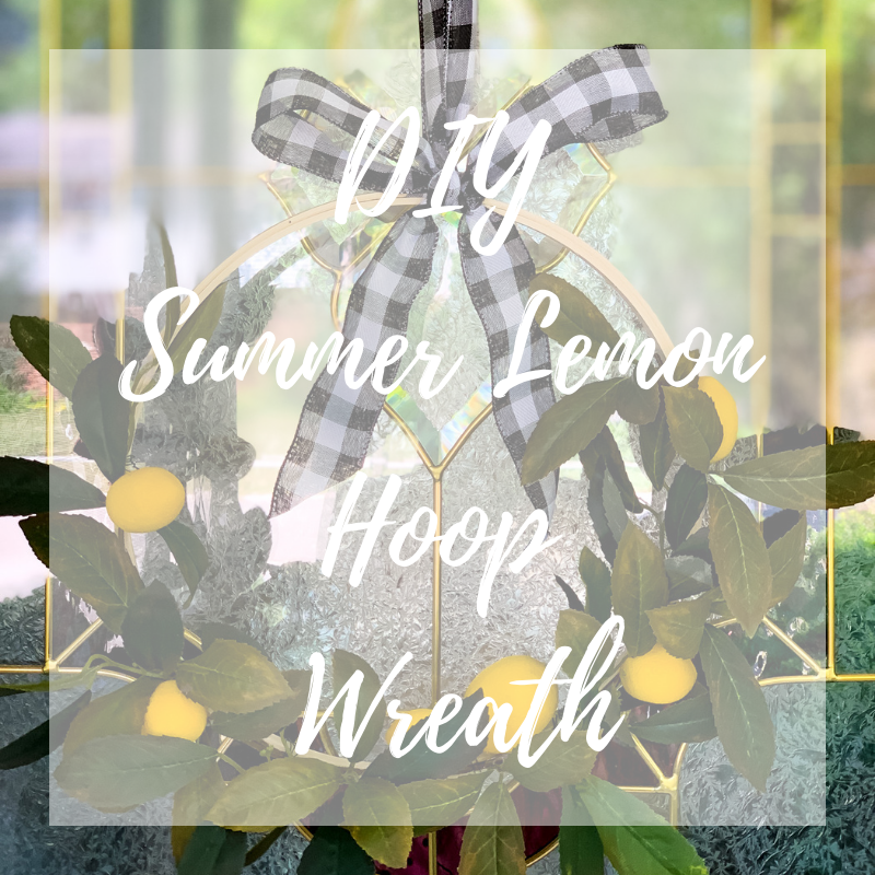 Summer Lemon Hoop Wreath Tutorial