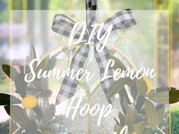DIY Summer Lemon Hoop Wreath