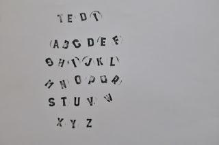 Stemple literki z Tedi